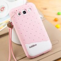 Силиконовый матовый фигурный чехол для Samsung Galaxy Win Розовый