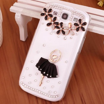Дизайнерский пластиковый чехол с аппликацией стразами и бижутерией ручной работы для Samsung Galaxy Win