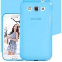 Силиконовый матовый полупрозрачный чехол для Samsung Galaxy Win Синий