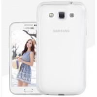 Силиконовый матовый полупрозрачный чехол для Samsung Galaxy Win Белый