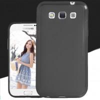 Силиконовый матовый полупрозрачный чехол для Samsung Galaxy Win Черный