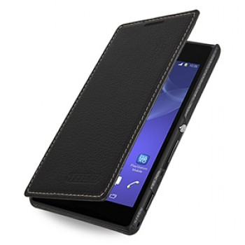 Кожаный чехол горизонтальная книжка (нат. кожа) для Sony Xperia M2 dual