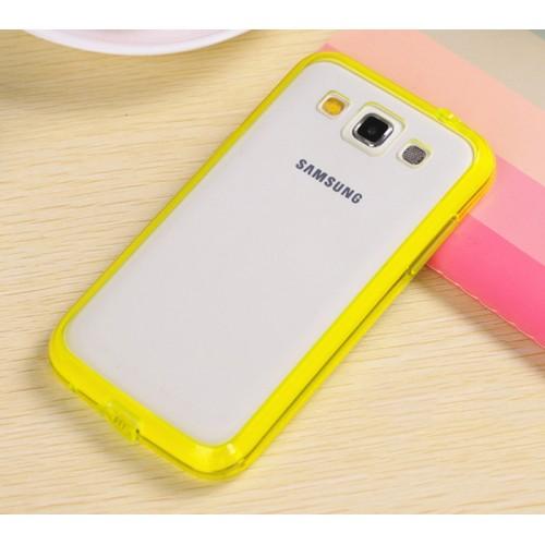 Двухкомпонентный чехол с силиконовым бампером повышенной защиты и поликарбонатной транспарентной накладкой для Samsung Galaxy Win