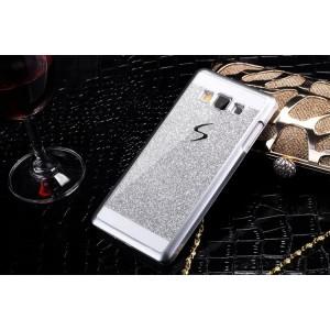 Пластиковый матовый непрозрачный чехол текстура Золото для Samsung Galaxy Win Серый