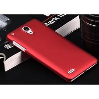 Пластиковый чехол серия Metallic для Lenovo S890 Красный