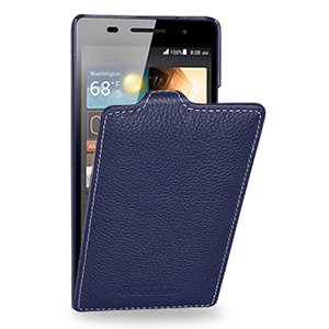 Кожаный чехол вертикальная книжка (нат. кожа) для Huawei Ascend P6