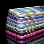 Металлический бампер с золотой окантовкой для Samsung Galaxy Win