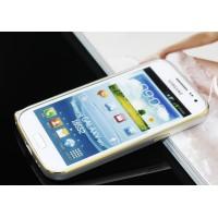Металлический бампер с золотой окантовкой для Samsung Galaxy Win Белый