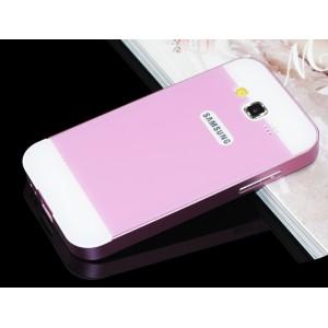 Двухкомпонентный чехол с металлическим бампером и двухцветной поликарбонатной накладкой для Samsung Galaxy Win Розовый