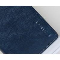 Чехол флип вощеная кожа для Lenovo S890 Синий
