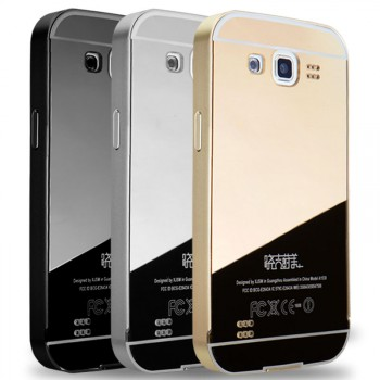 Гибридный металлический двухкомпонентный чехол с поликарбонатной крышкой с зеркальным покрытием для Samsung Galaxy Win