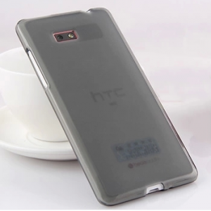 Силиконовый матовый полупрозрачный чехол для HTC Desire 600 Черный