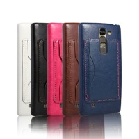 Чехол накладка с отделением для карты и кожаным покрытием для LG G4c