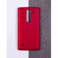 Пластиковый матовый непрозрачный чехол для LG Magna Красный