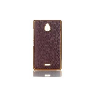 Пластиковый чехол с металлизированным покрытием Соты для Nokia X2