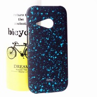 Пластиковый матовый дизайнерский чехол с голографическим принтом Звезды для HTC One mini 2 Голубой