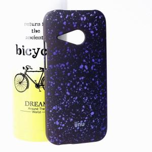 Пластиковый матовый дизайнерский чехол с голографическим принтом Звезды для HTC One mini 2 Фиолетовый
