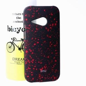 Пластиковый матовый дизайнерский чехол с голографическим принтом Звезды для HTC One mini 2 Красный