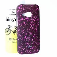 Пластиковый матовый дизайнерский чехол с голографическим принтом Звезды для HTC One mini 2 Розовый