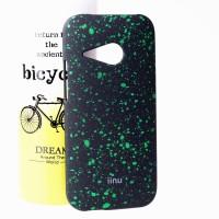 Пластиковый матовый дизайнерский чехол с голографическим принтом Звезды для HTC One mini 2 Зеленый