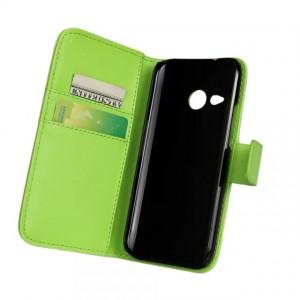 Чехол портмоне подставка с защелкой для HTC One mini 2 Зеленый