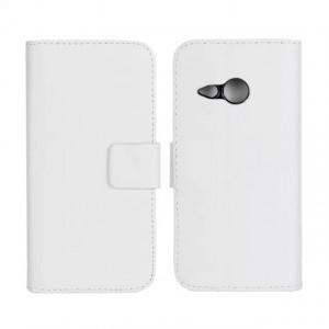 Чехол портмоне подставка с защелкой для HTC One mini 2 Белый