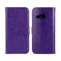 Глянцевый чехол портмоне подставка с защелкой для HTC One mini 2 Фиолетовый
