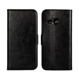 Глянцевый чехол портмоне подставка с защелкой для HTC One mini 2 Черный