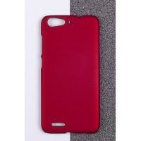 Пластиковый матовый непрозрачный чехол для ZTE Blade X7/Z7 Красный