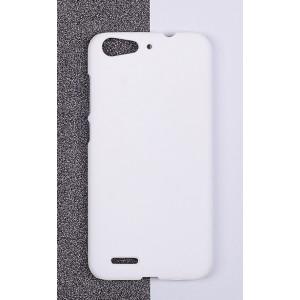 Пластиковый матовый непрозрачный чехол для ZTE Blade X7/Z7 Белый