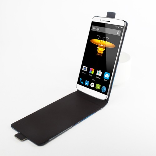 Клеевой чехол вертикальная книжка с магнитной застежкой и полноповерхностным принтом для Elephone P8000