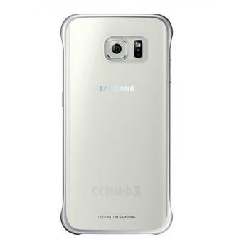 Оригинальный пластиковый транспарентный чехол с цветными границами (металлизированное напыление) для Samsung Galaxy S6 Edge