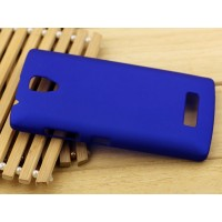 Пластиковый матовый Металлик чехол для Lenovo A2010 Синий
