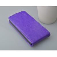 Глянцевый чехол вертикальная книжка на пластиковой основе с магнитной застежкой для Samsung Galaxy Core Фиолетовый