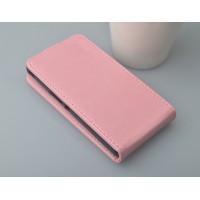 Глянцевый чехол вертикальная книжка на пластиковой основе с магнитной застежкой для Samsung Galaxy Core Розовый