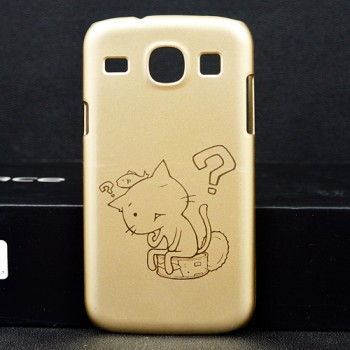 Пластиковый матовый дизайнерский чехол с принтом лазерного травления для Samsung Galaxy Core