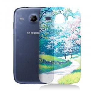 Пластиковый матовый дизайнерский чехол с УФ-принтом для Samsung Galaxy Core
