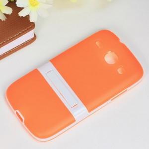 Двухкомпонентный силиконовый чехол с пластиковым бампером-подставкой для Samsung Galaxy Core