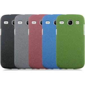 Пластиковый матовый чехол с повышенной шероховатостью для Samsung Galaxy Core