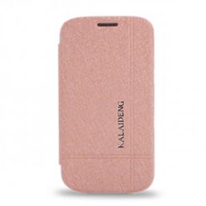 Чехол флип на пластиковой основе для Samsung Galaxy Core Бежевый