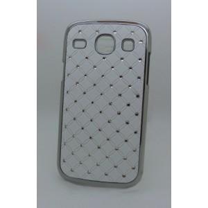 Чехол пластик/металл со стразами для Samsung Galaxy Core