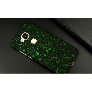 Пластиковый матовый дизайнерский чехол с голографическим принтом Звезды для Huawei G8