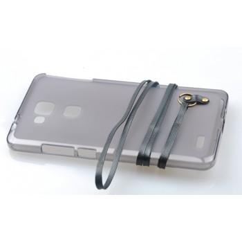 Силиконовый матовый полупрозрачный чехол со шнурком для Huawei G8