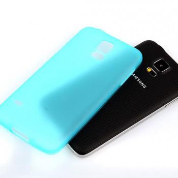 Силиконовый матовый полупрозрачный чехол для Samsung Galaxy S5 Mini