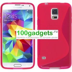 Силиконовый чехол S для Samsung Galaxy S5 Mini Розовый