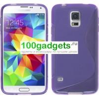 Силиконовый чехол S для Samsung Galaxy S5 Mini Фиолетовый