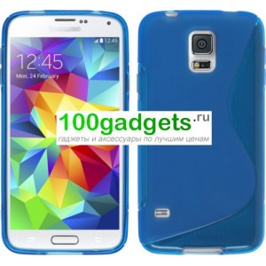 Силиконовый чехол S для Samsung Galaxy S5 Mini Синий