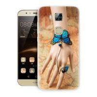 Силиконовый матовый дизайнерский чехол с принтом для Huawei G8
