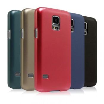 Пластиковый матовый металлик чехол для Samsung Galaxy S5 Mini