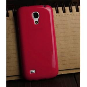 Силиконовый непрозрачный чехол для Samsung Galaxy S4 Mini Красный